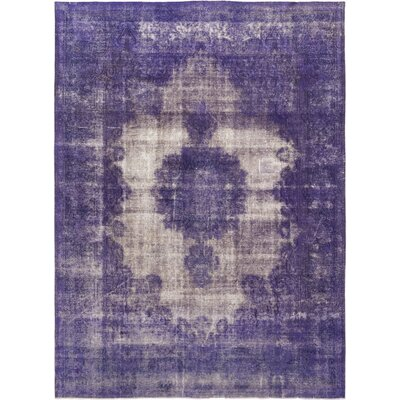 One-of-a-Kind Bigner Hand-Knotted Wool Purple Area Rug