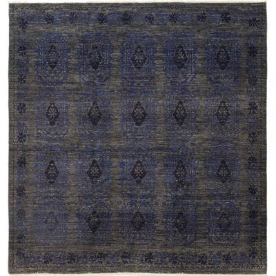 One-of-a-Kind Courtenay Hand-Knotted Wool Blue Area Rug