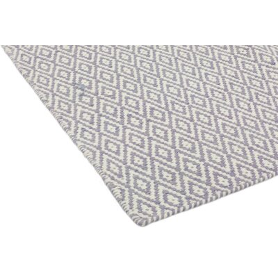 One-of-a-Kind Newell Hand-Knotted Wool White/Gray Area Rug