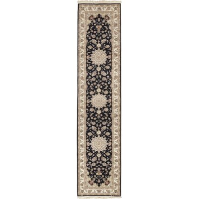 One-of-a-Kind Cullen Hand-Knotted Wool Black Area Rug
