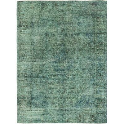 One-of-a-Kind Kousgaard Hand-Knotted Wool Green Area Rug