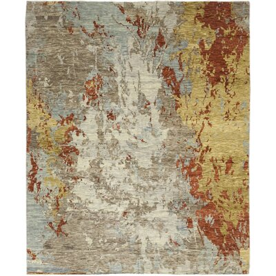 One-of-a-Kind Dunnock Hand-Knotted Wool Gray/White Area Rug