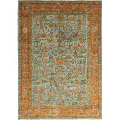 One-of-a-Kind Heimbach Hand-Knotted Wool Blue Area Rug