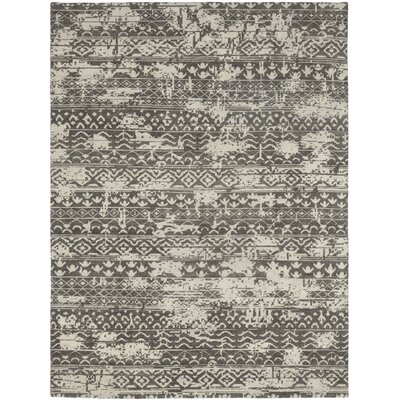 One-of-a-Kind Domingue Hand-Knotted Wool Gray Area Rug