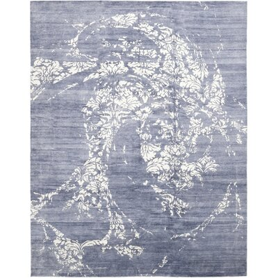 One-of-a-Kind Vamo Hand-Knotted Wool Blue Area Rug