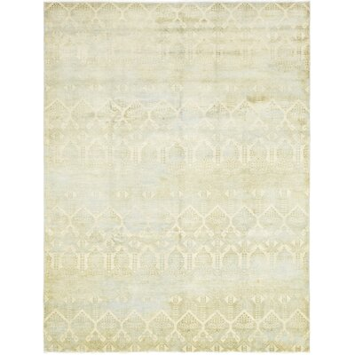 One-of-a-Kind Mullaghboy Hand-Knotted Wool Beige Area Rug