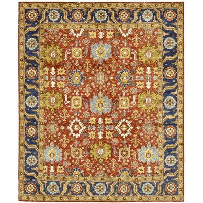 One-of-a-Kind Cort Hand-Knotted Wool Yellow/Red Area Rug