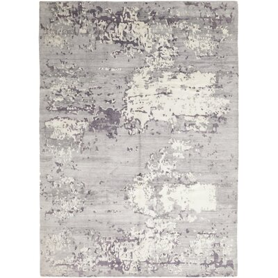 One-of-a-Kind Finkelstein Hand-Knotted Silk Gray Area Rug