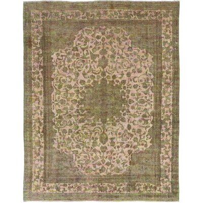 One-of-a-Kind Freier Hand-Knotted Wool Green Area Rug