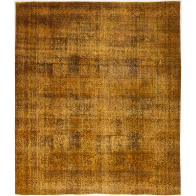 One-of-a-Kind Lorence Hand-Knotted Wool Orange Area Rug