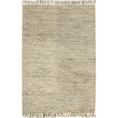 One-of-a-Kind Ellerbe Hand-Woven Wool Beige Area Rug