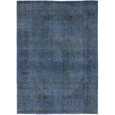 One-of-a-Kind Liebel Hand-Knotted Wool Blue Area Rug