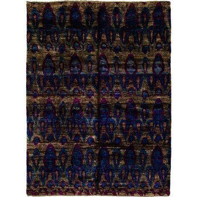 One-of-a-Kind Quicksall Hand-Knotted Silk Blue Area Rug