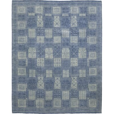 One-of-a-Kind Marcell Hand-Knotted Wool Blue Area Rug
