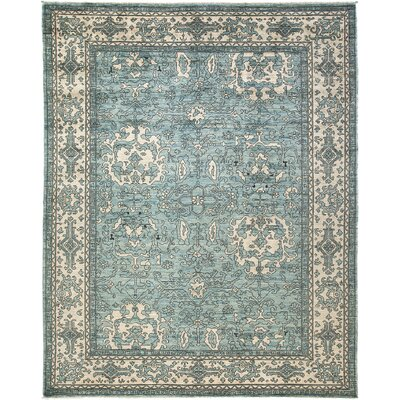 One-of-a-Kind Mauna Loa Hand-Knotted Wool Blue Area Rug