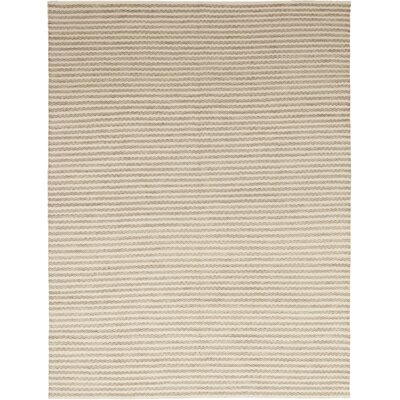One-of-a-Kind Emrick Hand-Knotted Wool Beige Area Rug Rug Size: Rectangle 91 x 121
