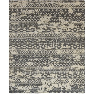 One-of-a-Kind Donegal Hand-Knotted Wool Gray Area Rug