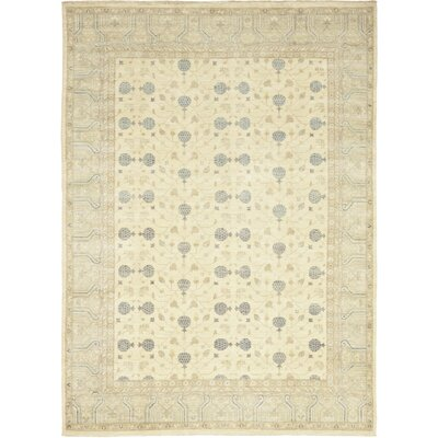 One-of-a-Kind Pritchett Hand-Knotted Wool Beige Area Rug