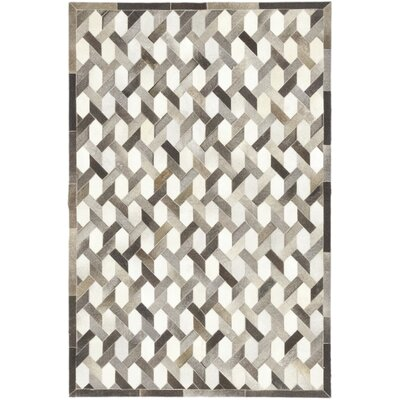One-of-a-Kind Dixon Hand-Woven Cowhide Gray Area Rug
