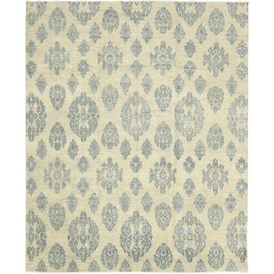 One-of-a-Kind Eslettes Hand-Knotted Wool Blue Area Rug
