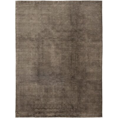 One-of-a-Kind Rowles Hand-Knotted Brown Area Rug