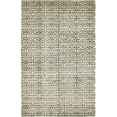 One-of-a-Kind Finnell Hand-Knotted Wool Cream Area Rug