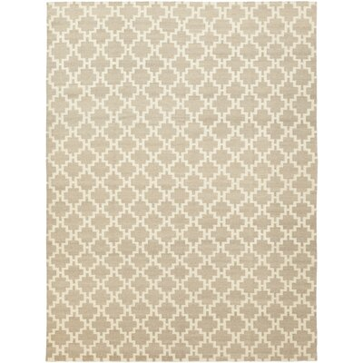 One-of-a-Kind Montsalas Hand-Knotted Wool Beige Area Rug