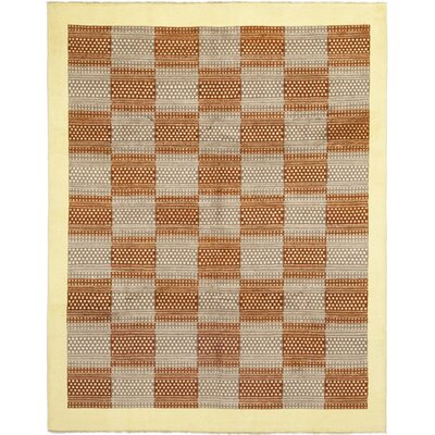 One-of-a-Kind Cheatwood Hand-Knotted Wool Gray/Orange Area Rug