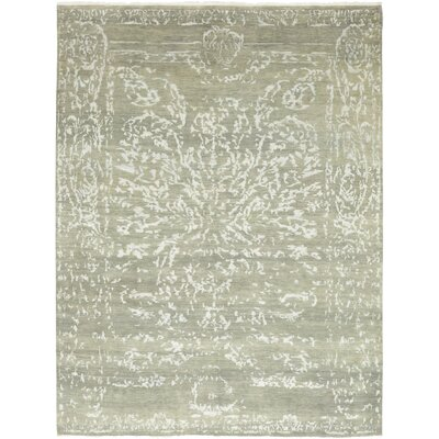 One-of-a-Kind Loman Hand-Knotted Wool White/Gray Area Rug