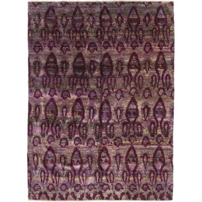 One-of-a-Kind Adlam Hand-Knotted Silk Purple Area Rug