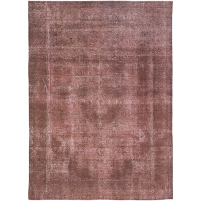 One-of-a-Kind Northeast Jefferson Hand-Knotted Wool Pink Area Rug