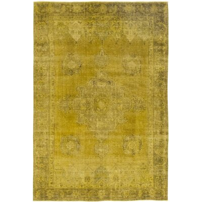 One-of-a-Kind Gitschier Hand-Knotted Wool Yellow Area Rug