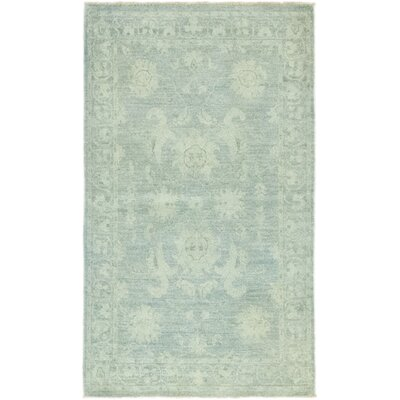 One-of-a-Kind Heimbach Hand-Knotted Wool Green Area Rug