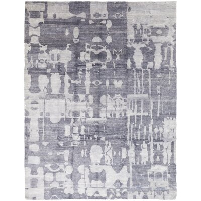 One-of-a-Kind Elbridge Hand-Knotted Wool Blue Area Rug