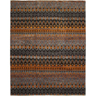 One-of-a-Kind Virenque Hand-Knotted Wool Black Area Rug