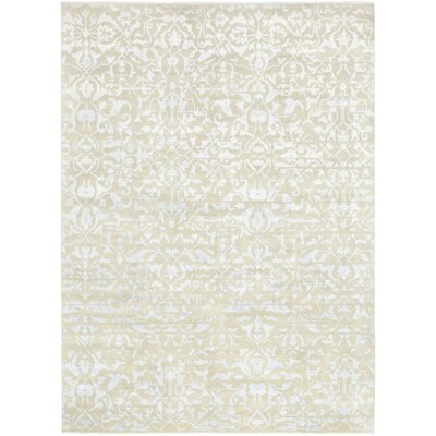 One-of-a-Kind Mulholland Hand-Knotted Wool Blue Area Rug