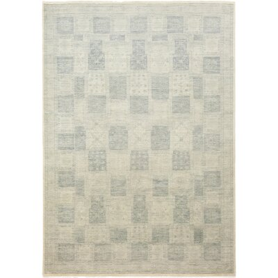 One-of-a-Kind Marcello Hand-Knotted Wool Gray Area Rug