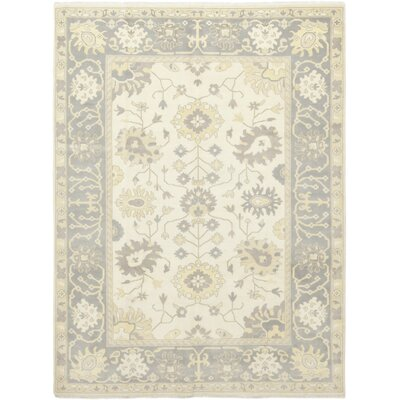 One-of-a-Kind Corrado Hand-Knotted Wool Ivory Area Rug
