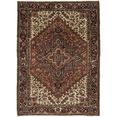 One-of-a-Kind Coyan Hand-Knotted Wool Brown Area Rug
