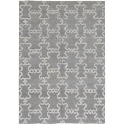 One-of-a-Kind Varun Hand-Knotted Wool Gray Area Rug