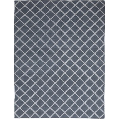 One-of-a-Kind Vandling Hand-Knotted Wool Blue Area Rug