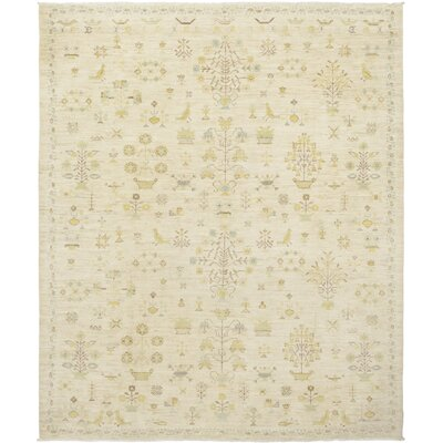 One-of-a-Kind Courtenay Hand-Knotted Wool Beige Area Rug