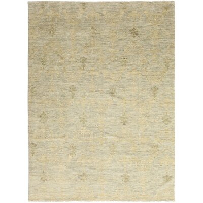 One-of-a-Kind Villante Hand-Knotted Wool Beige Area Rug