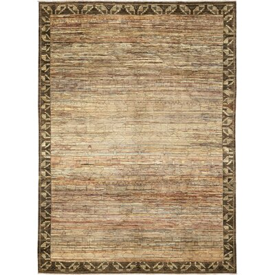 One-of-a-Kind Rowell Hand-Knotted Wool Brown Area Rug