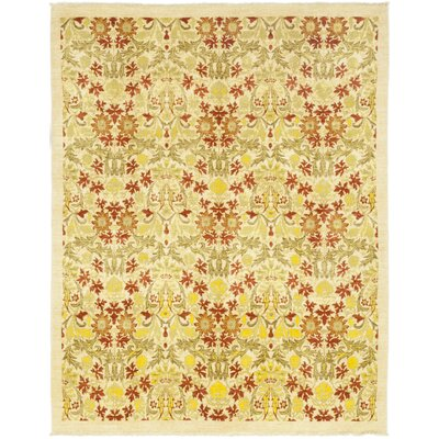 One-of-a-Kind Weid Hand-Knotted Wool Beige Area Rug
