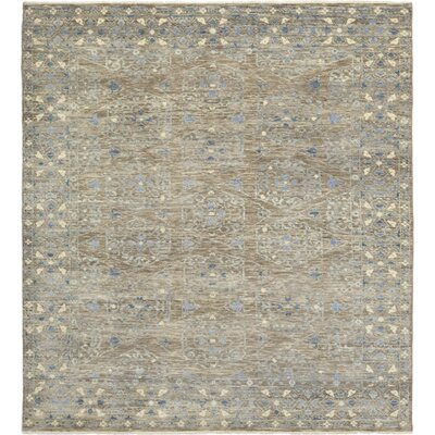 One-of-a-Kind Filzer Hand-Knotted Wool Gray Area Rug