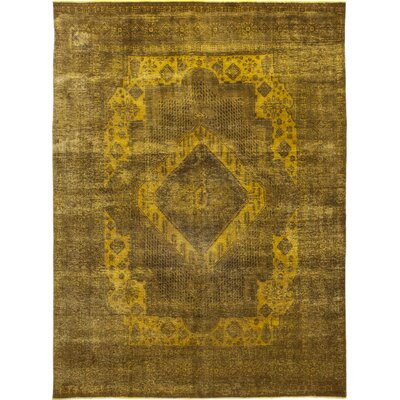 One-of-a-Kind Marcantonio Hand-Knotted Wool Yellow Area Rug