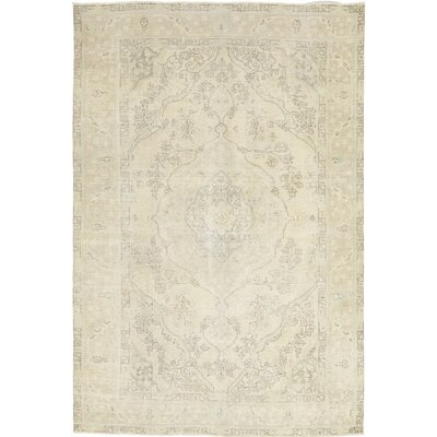 One-of-a-Kind Simon Hand-Knotted Wool Ivory Area Rug