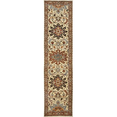 One-of-a-Kind Heimbach Hand-Knotted Wool Beige/Blue Area Rug