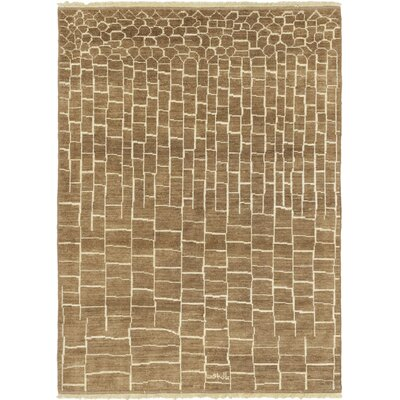 One-of-a-Kind Chelmsford Hand-Knotted Wool Brown Area Rug